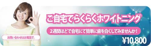 ご自宅で、らくらくホワイトニング ( ¥10800 )
